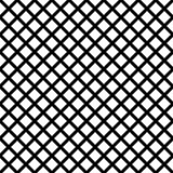 Chain-link geometric black on white seamless vector pattern.