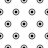 Circles polka dot simple seamless vector pattern.