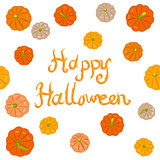 Halloween pumpkins greeting card