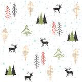 Seamless natural ornament on the Christmas theme