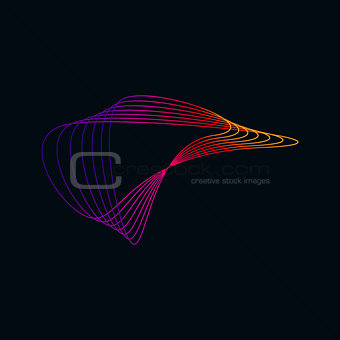 Abstract Colorful Fractal Symbol for creative business