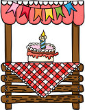 Birthday cake wooden stand for sale