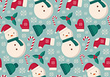 Winter objects seamless pattern.