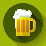 Irish ginger beer St. Patricks day symbol vector icon. Flat designed style