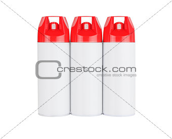 Three Spray Cans