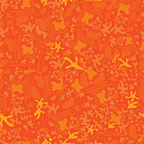Seamless abstract orange shape background