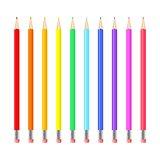 Colorful realistic pencils set.
