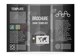Black template brochure, business cool design. For the Bank and credit institutions.