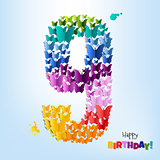 Happy Birthday Card Nine Years