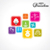 dussehra festival greeting or poster design