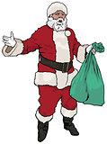 Santa Claus Holding Sack