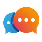 Messenger icon chat vector