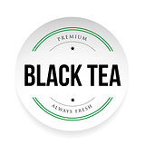 Black Tea label sign