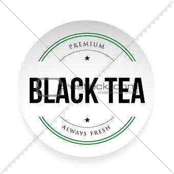 Black Tea label sign