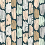 Wood planks seamless pattern. Tree bark texture vector background.