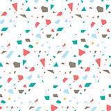 Terrazzo flooring seamless vector pattern.