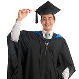 University student in graduation day