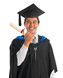 Excited university student graduation