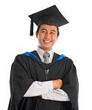 Happy university student graduation