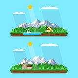 summer mountains landscape