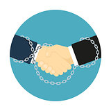 chained handshake icon