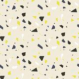 Seamless terrazzo floor rock vector pattern.