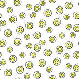 Retro abstract 50s circle dots geo seamless vector pattern.