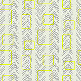 Tiny herringbone and rectangles line seamless vector pattern.