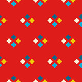 Textile print bright rhombuses repeat vector pattern.