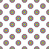 Geometric style flower seamless simple indian vector pattern.