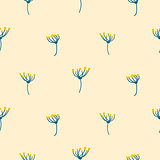 Dill crown flower abstract simple seamless pattern.