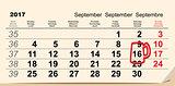 September 16, 2017 Oktoberfest. Calendar beer mug reminder icon