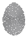 fingerprint. Secure identification