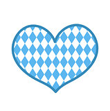 Oktoberfest in the heart shape icon is a flat style. Isolated on white background. Vector illustration.