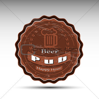 A design of beer mat