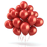 Red balloons crowd