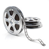 Film reels. Video icon. 3D