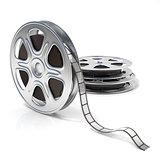 Film reels. Video icon. 3D