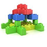 Toy for children, colorful castle construction