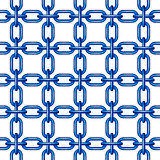 Net of chain in blue design
