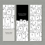 Greeting cards design, polar bears family