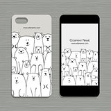 Mobile phone design, polar bears family