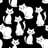 Cats, Seamless Background