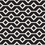 Abstract geometric lines lattice pattern. Seamless vector background. Black and white simple repeating texture.