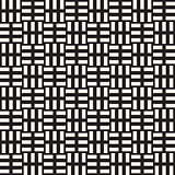 Crosshatch vector seamless geometric pattern. Crossed graphic rectangles background. Checkered motif. Seamless black and white texture of crosshatched lines. Trellis simple fabric print.