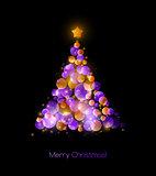 Christmas tree. Vector greeting
