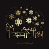 Gift box Christmas card
