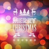 Christmas light vector background.