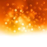 Merry Christmas orange light background