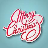 Merry Christmas Vector Lettering. Retro design